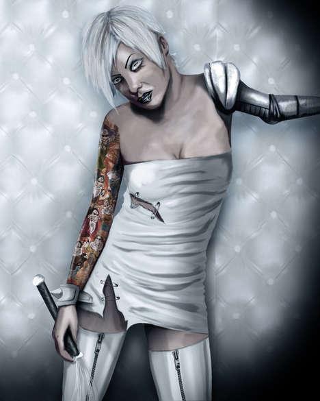 Psycho Snow White Art