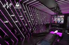 Glowing Pink Displays - Studio Raar Highlights Le Coq Sportif Shoes With Neon Lighting