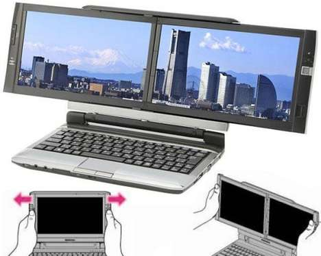 Crazy Hacker Laptops - Kohjinsha'S Dual Screen Laptop Lets You Program Anytime, Anywhere