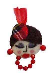 Dollface Pins - The Lulaila Felt Brooches by El Jardin de Lulaila