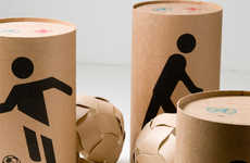 Social Soccer Balls - Dreamball Packaging Turns into Soccer Balls for Third World Children