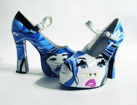 Hand Painted Heels