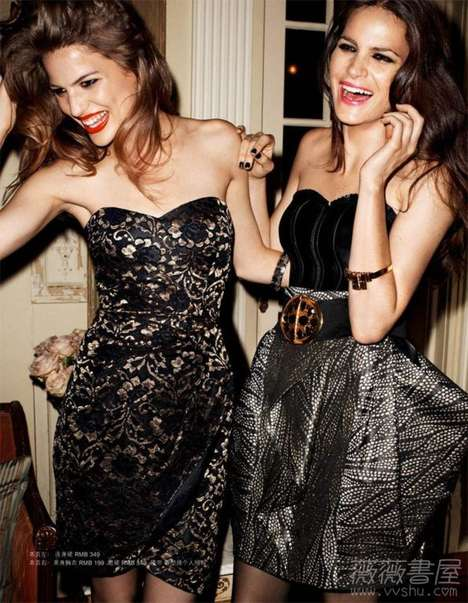 Fun-Loving 'Party People' in the H & M Winter Catalog
