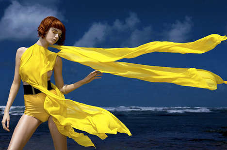 Bathingsuit Scarves - Rogerio Mesquita's Versatile Fashion Photography