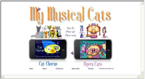 "Singing Cat iPhone Apps - 'Cat Chorus' Lets You Wish Friends a ""Meowy Christmas"" Keyboard Cat-Style"