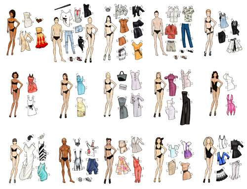 Paper Doll Couture Toronto S Lg Fashion Week Paper Dolls By Danielle Meder