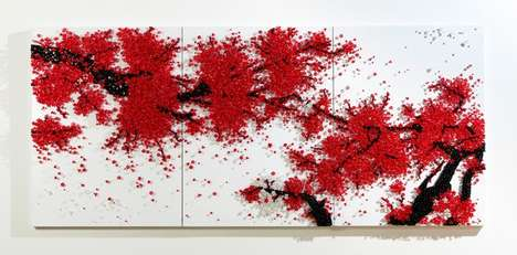 Meditative Art Installations - Ran Hwang's Amazing Button and Pin Art