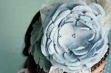 Over-Sized Floral Accessories - Myra Callan's Giant Flower Hats, Hairbands & Necklaces