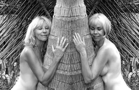 Bare Elderly Islanders - Florida Calendar Girls Expose Breasts for an Eco Cause