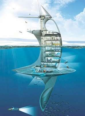 Intentional Vertical Ships - The Jaques Rougerie SeaOrbiter to Conduct Environmental Research