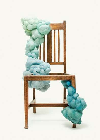 Growing Foam Furniture - Kyeok Kim Turns Chairs to Foamy Art