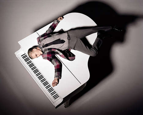 Piano Man Fashiontography - Gerhard Freidl Mixes Music and Fashion for Mixte Magazine