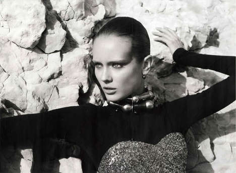 Elegant 80s Editorials - Model Monika Jagaciak in Numero Magazine Rocks Strong Looks