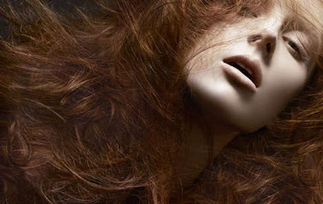 Bed Head Photo Shoots - Model Olga Sherer Lets Her Wild Locks Loose