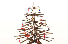 Stick Figure Xmas Trees - The PossibiliTree is a Natural Eco-Friendly Christmas Tree