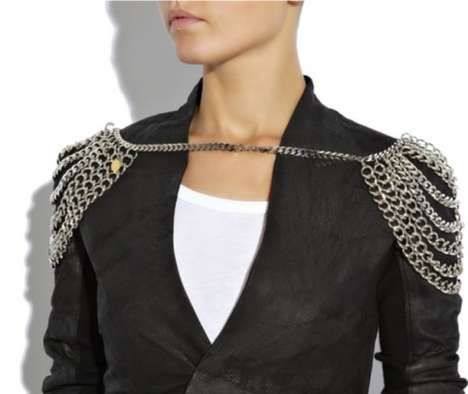Shoulder Chains - Multi-Chain Metal Epaulets are Shoulder Pads With Style