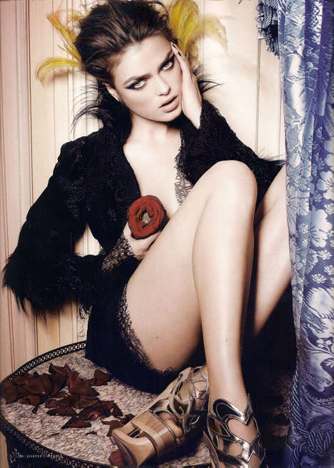 Rosy Romance Editorials - Sophie Vlaming Shows Flowers and Lace Love for Harper's Bazaar Romania