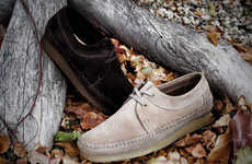 Aboriginal-Inspired Loafers - The Clarks Spring/Summer Preview Features Moccasin Detailing