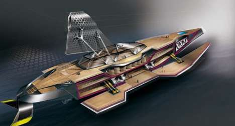 Shape-Shifting Superships - The IKKAR Yacht is a Transformable Watercraft