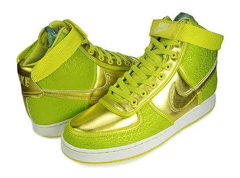 Shiny Electrolime Sneakers