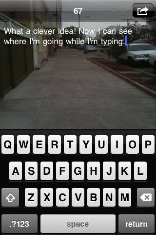 Anti-Clumsy Text Apps - The Type N Walk iPhone App Makes Texting While Walking Safe