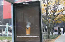 Steaming Bus Shelter Ads - McDonald's Ad Reveals Secret Message With Steam