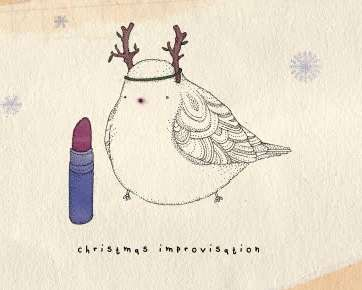 Doodled Reindeer Birds