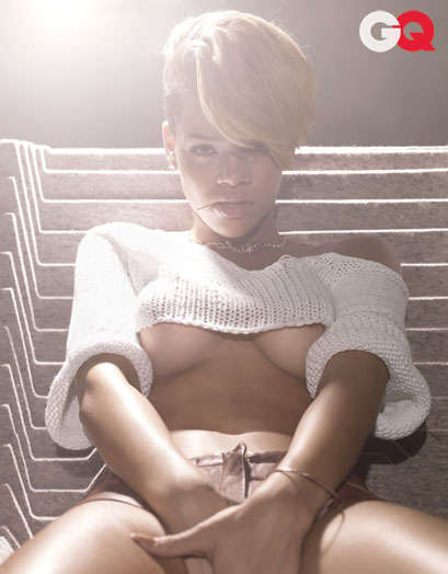 Under Boob Editorials - Rihanna Rocks Sassy Styles for GQ