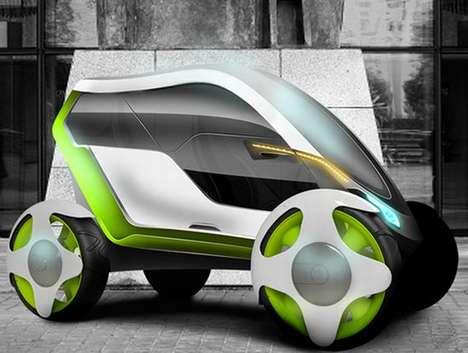 Slim Futuristic Vehicles