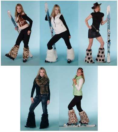 Snow Bunny Accessories - Boot Chic Covers Your Boots in Faux Fur