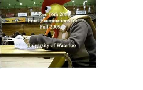 Exam Bombing - The University of Waterloo Chicken Prank