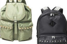 Sharp Studded Backpacks - Swagger and Porter Team Up for the M.E.T.A.L. Bag Collection