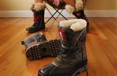 Fuzzy Fortified Footwear