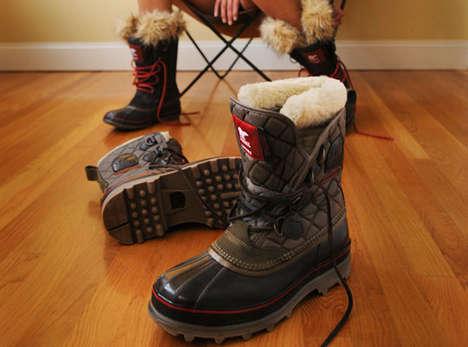 Fuzzy Fortified Footwear