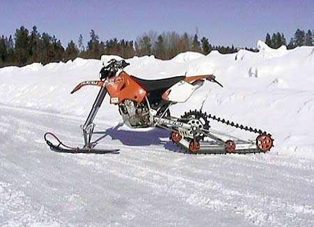 Snow Motorbikes - ATV and Dirt Biking Meet Snomobiles for the Winter Adrenaline Junkie