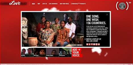 Global Sing-Alongs - Starbucks Love Project 156 Brings Countries Together in a Worldwide Lovefest