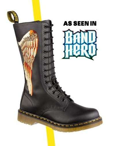 Gamer Boots - Dr. Martens Band Hero Boots are Based off the Game