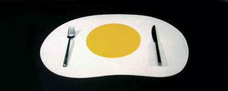 Eggcelent Kitchen Decor - Sunny Side Up Placemat by Tonky Designs is a Breakfast Original