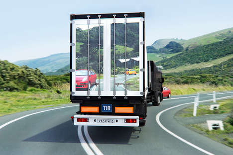 Transparent Trucks - Transparentius Camera Projects 'Blindspot' on Truck's Back Panel