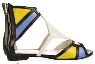 Mondrian-Inspired Sandals