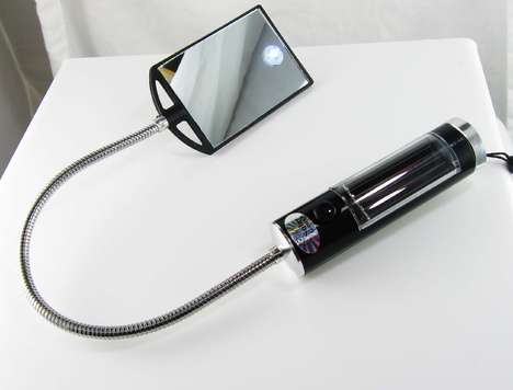 Bendy Eco Lights - Solar Mirror Inspection Light for Hard to Reach Places