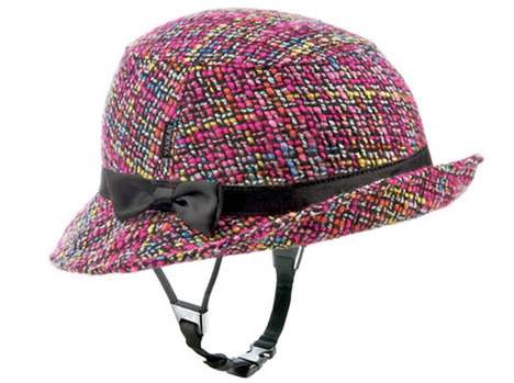Fedora Bike Helmets - The Yakkay Helmet Offers a Stylish Bike Riding Accessory