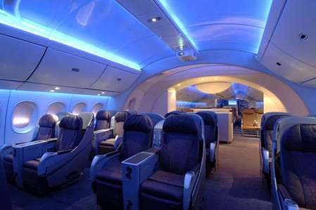 Friendly Futuristic Airplanes - The Boeing Dreamliner May Make Traveling Slightly More Bearable