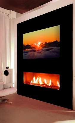The I-Vision Fireplace by Helex Also Has an HD Flat-Screen Tv
