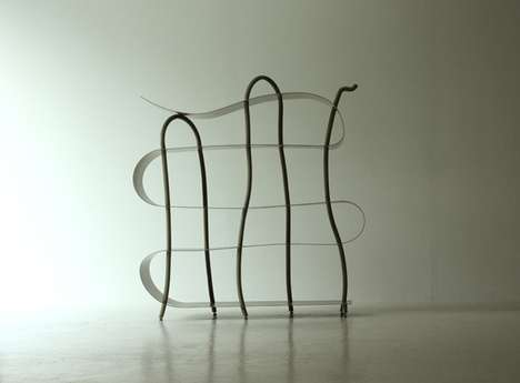 Organic Squiggle Bookcases