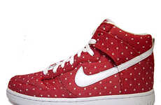 Red Romance Kicks - The Nike Dunk Hi Valentine's Day Sneakers