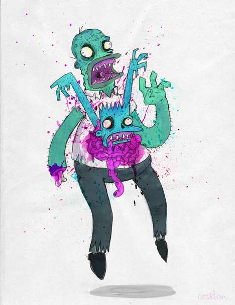 Zombified Cartoon Characters