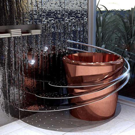 Bucket-Shaped Bathtubs
