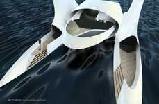 Spaceship Yachts - Enso Catamaran by Zack Stephanchick is Ready to Take off