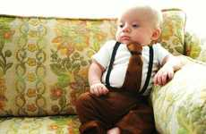 Cute Baby Suits - 'Oliver' Bodysuit and Slacks by Sandbox Society Turn Tots into Disgruntled Execs